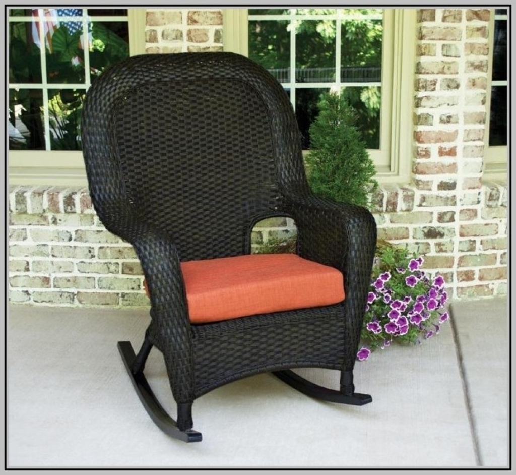 Good Outdoor Rocking Chairs With Cushions — Bistrodre Porch And Inside Outdoor Rocking Chairs With Cushions (View 5 of 15)