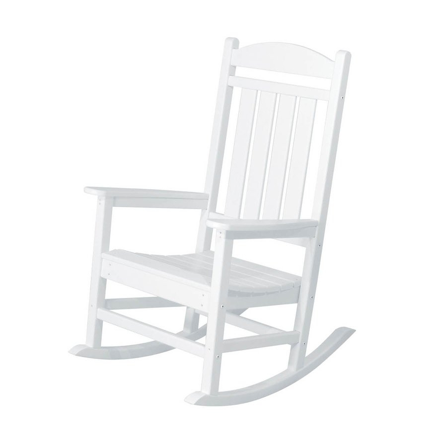 Inspiration about Great Patio Rocking Chairs Shop Polywood Presidential White Plastic Intended For Plastic Patio Rocking Chairs (#10 of 15)