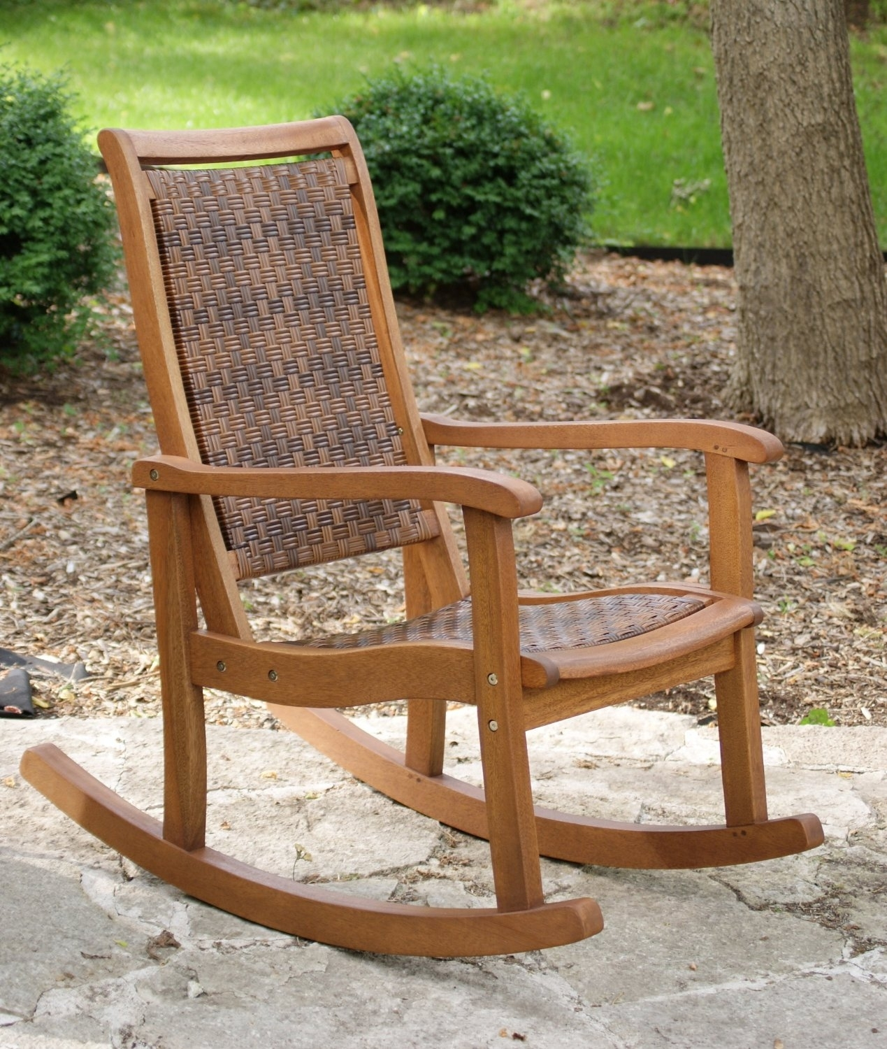Great Rocking Patio Chairs Outdoor Wicker Rocking Chairs Patio Pertaining To Rocking Chair Outdoor Wooden (View 8 of 15)