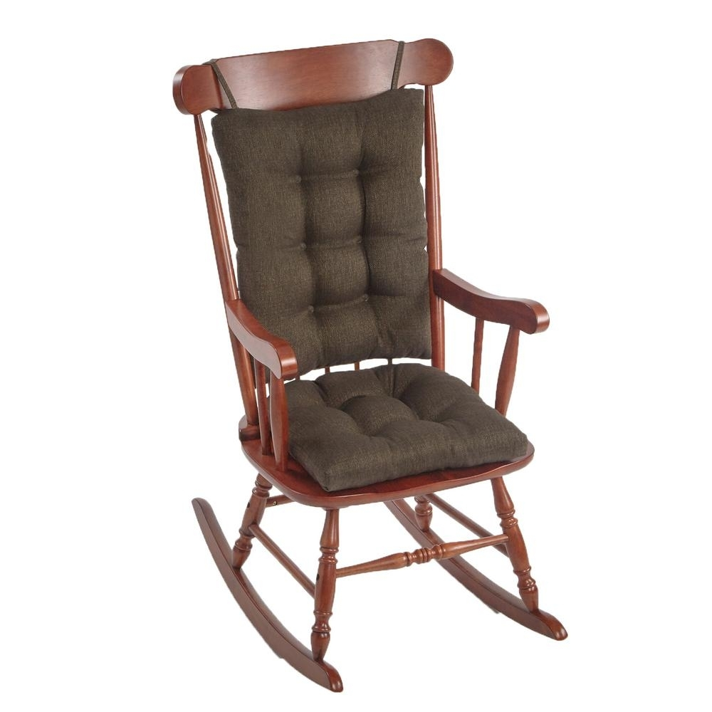 Inspiration about Gripper Omega Chestnut Jumbo Rocking Chair Cushion Set 849307Xl 278 With Xl Rocking Chairs (#3 of 15)
