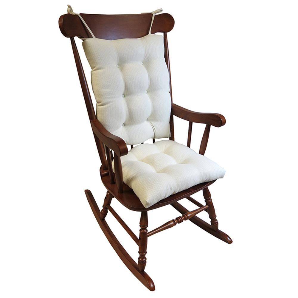 Inspiration about Gripper Omega Ivory Jumbo Rocking Chair Cushion Set 849307Xl 20 Inside Xl Rocking Chairs (#1 of 15)