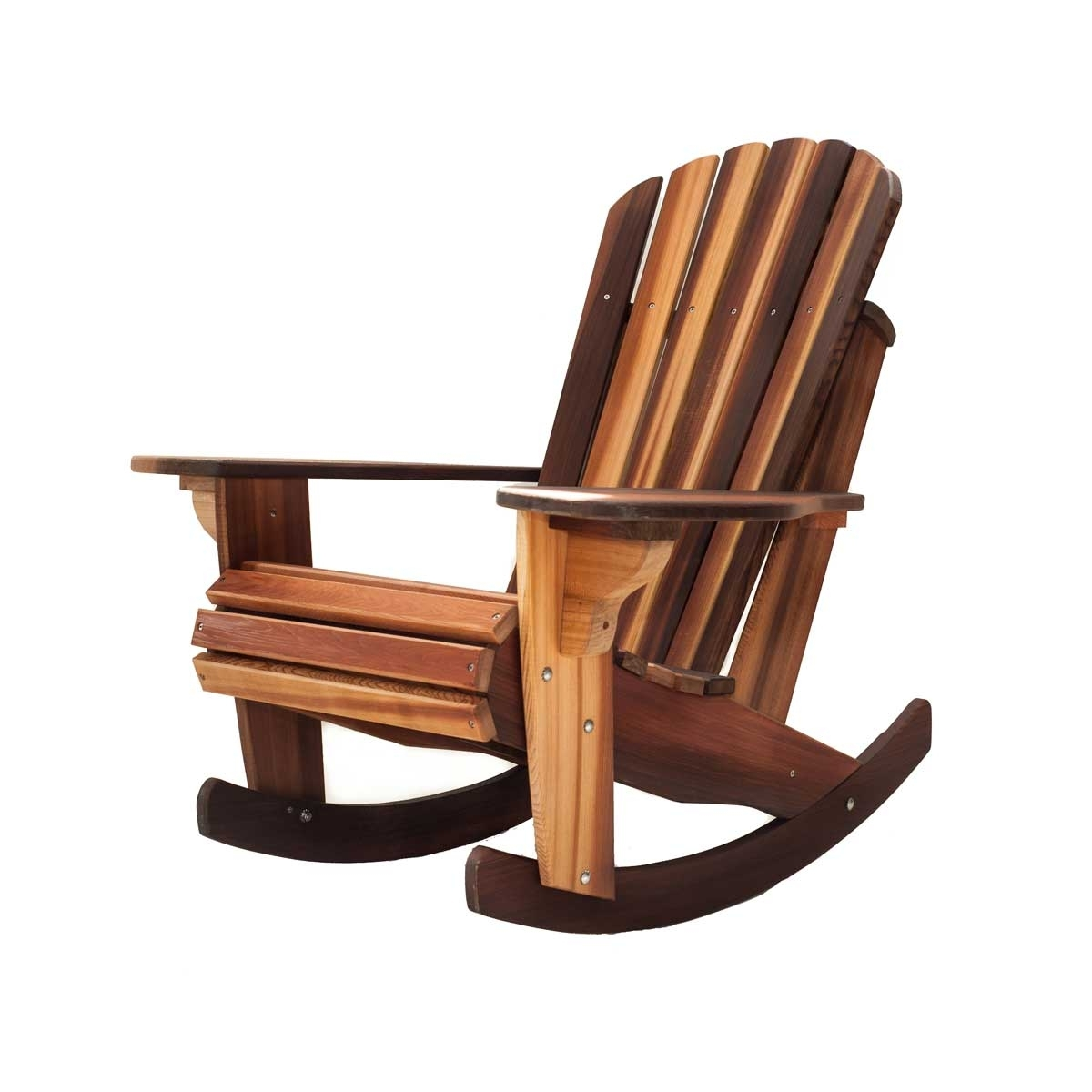 Handcrafted Adirondack Cedar Rocker Chairs & Adirondack Cedar Throughout Rocking Chairs (#5 of 15)