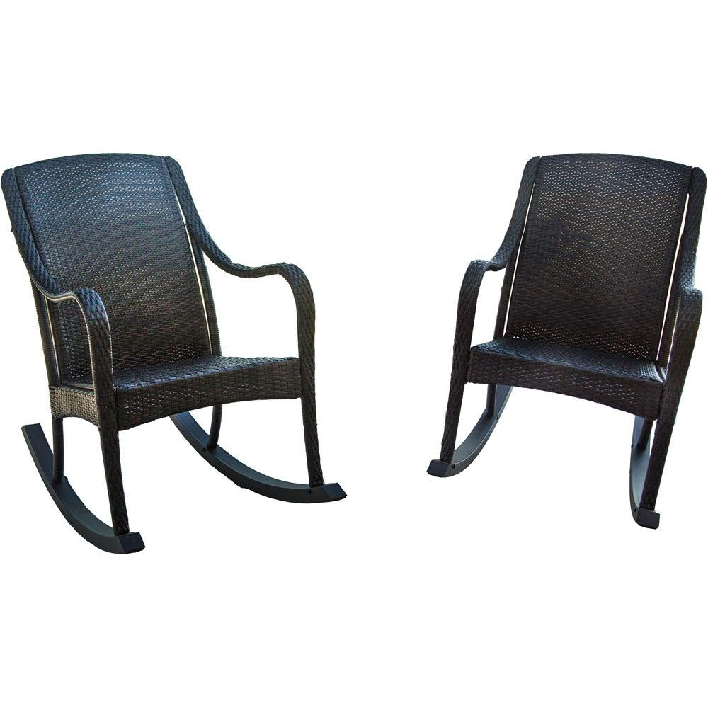 Hanover Orleans 2 Piece Rocking Patio Chair Set Orleans2Pcrkr – The Regarding Wicker Rocking Chairs Sets (#5 of 15)