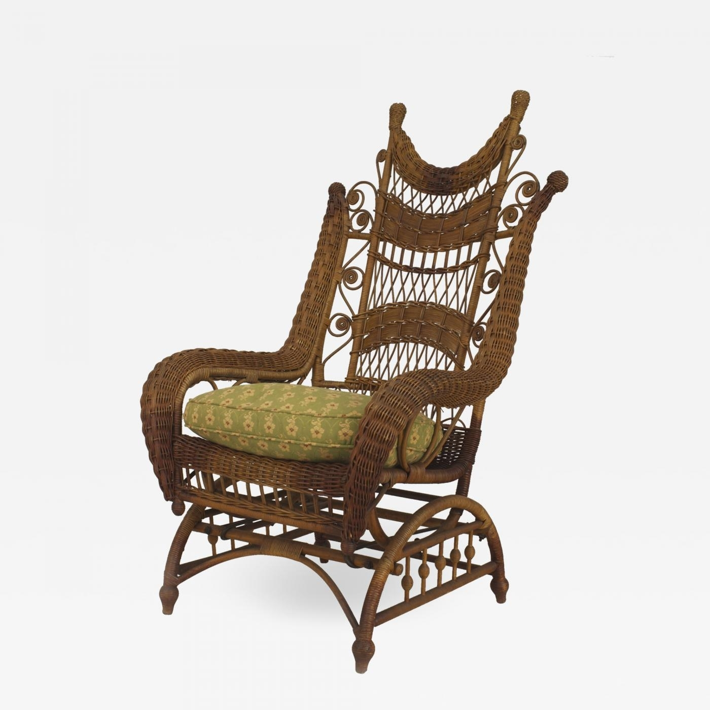 Heywood Wakefield – American Victorian Natural Wicker Ornate High Intended For Victorian Rocking Chairs (View 15 of 15)