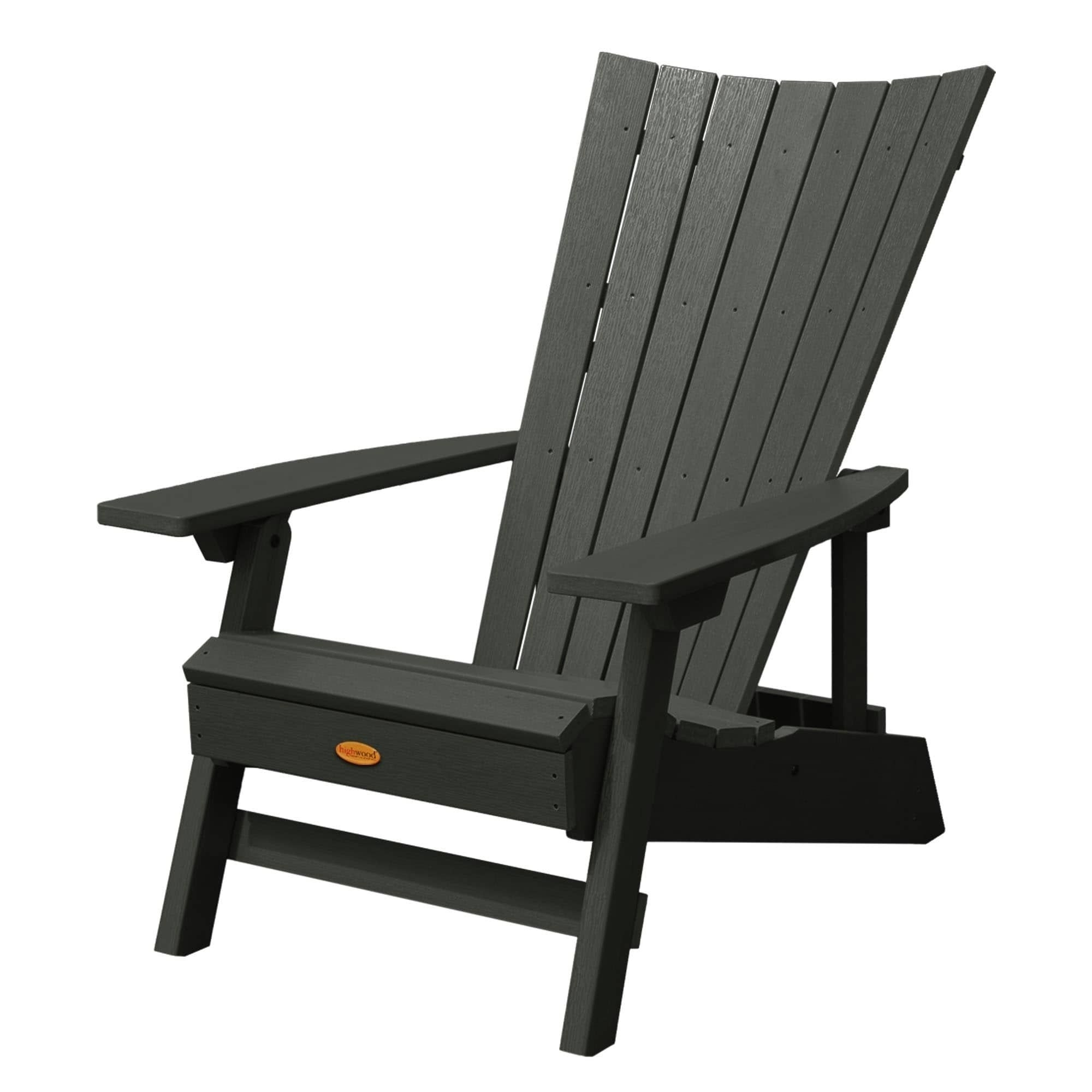 Highwood Manhattan Beach Adirondack Chair (Black), Size Single With Regard To Manhattan Patio Grey Rocking Chairs (View 3 of 15)