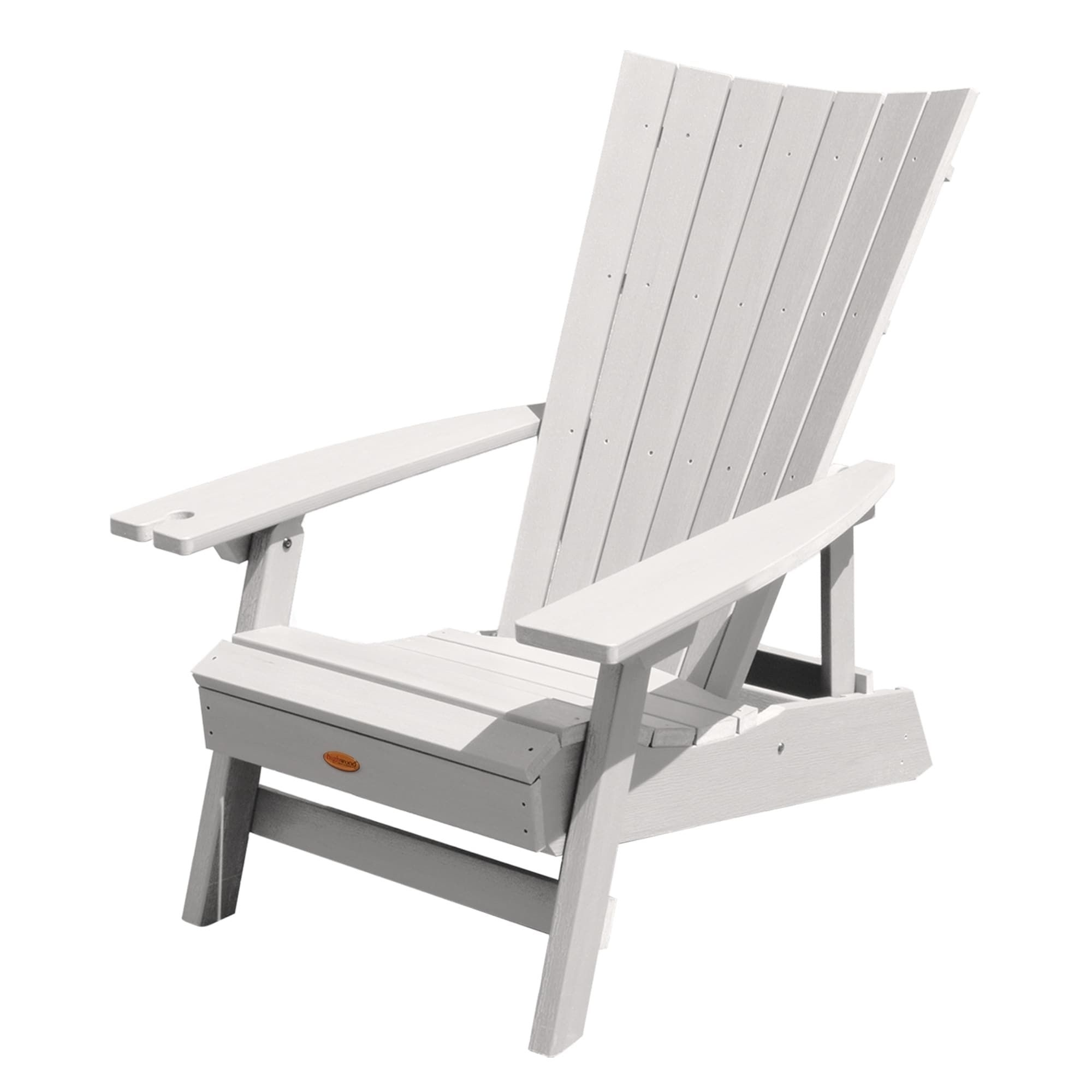 Highwood Manhattan Beach Adirondack Chair With Wine Glass Holder Inside Manhattan Patio Grey Rocking Chairs (View 4 of 15)