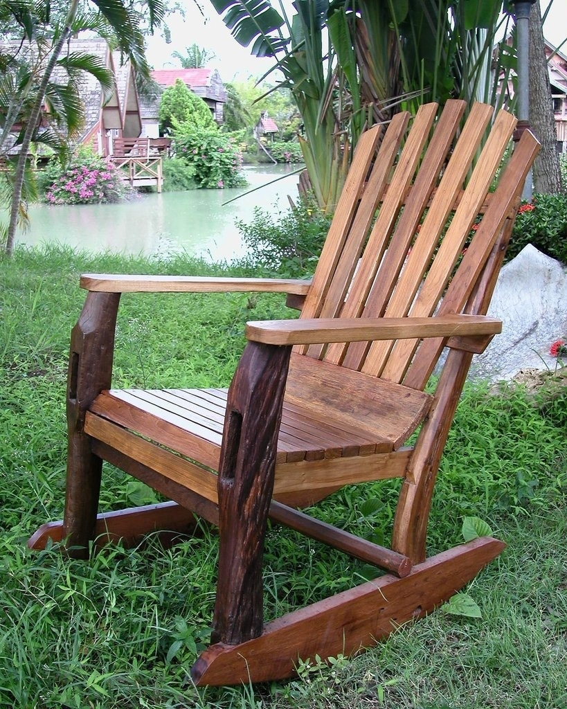 Home Decor: Perfect Teak Adirondack Chairs & Groovystuff Reclaimed Within Rocking Chairs At Sams Club (#3 of 15)