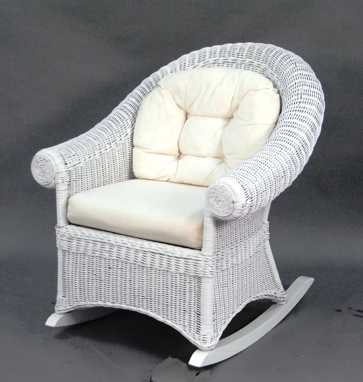 Popular Photo of White Wicker Rocking Chair For Nursery