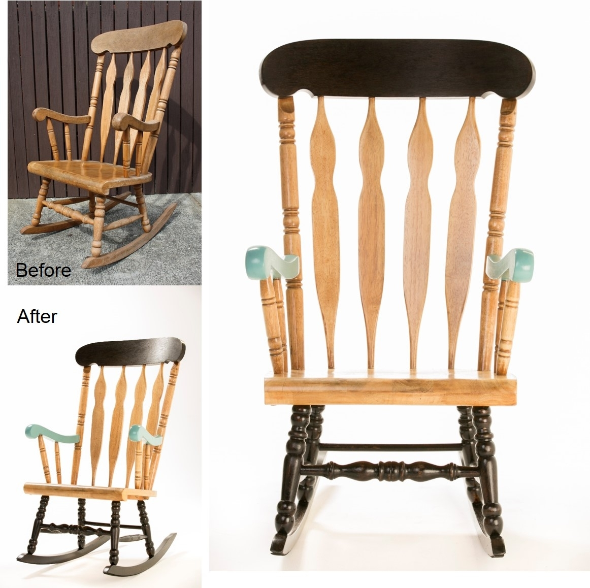How To: Upcycle A Timber Rocking Chair – The Interiors Addict Within Upcycled Rocking Chairs (View 6 of 15)