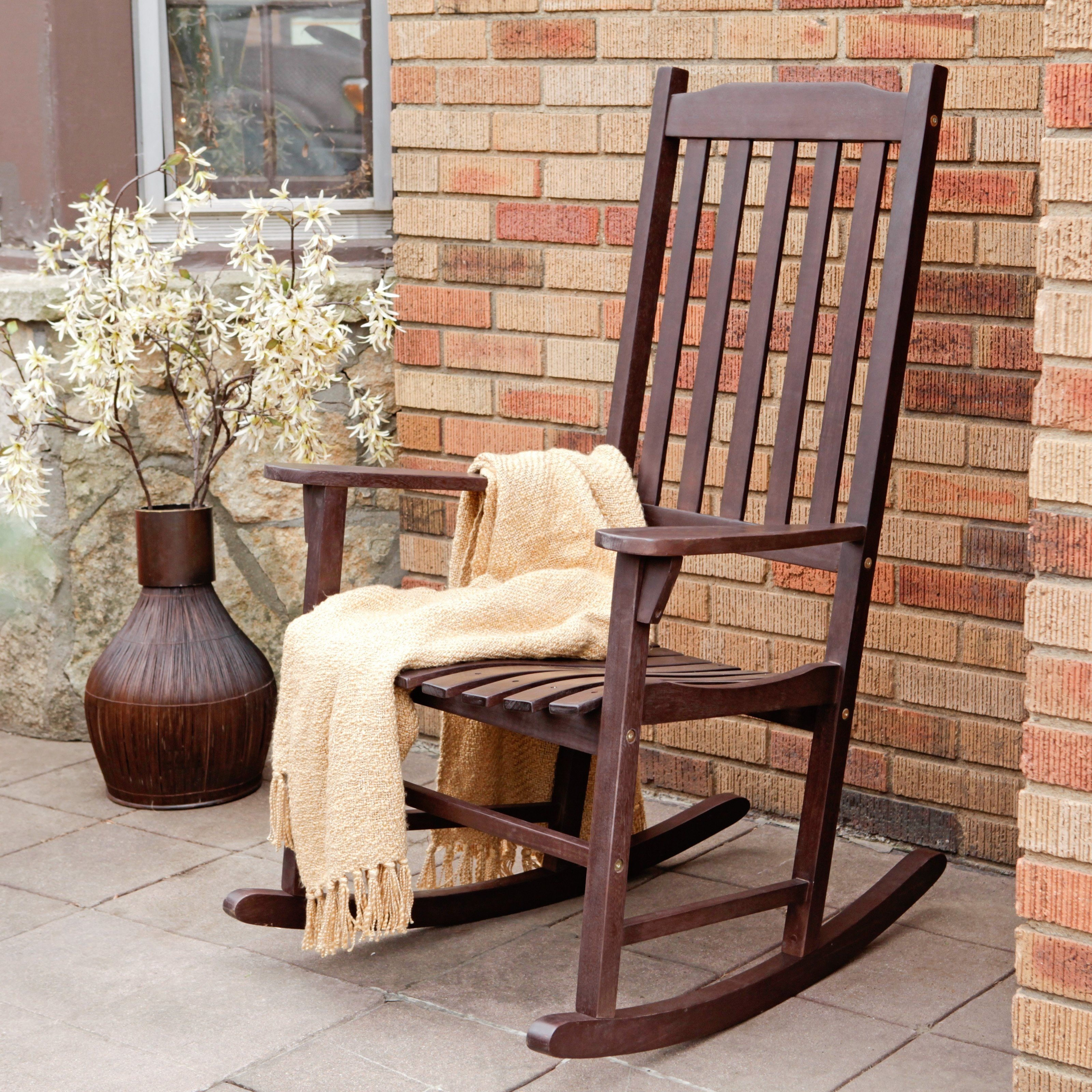 I'll Take Two For The Front Porch! Coral Coast Indoor/outdoor For Brown Patio Rocking Chairs (#4 of 15)