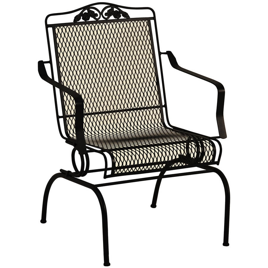 15 Photo Of Wrought Iron Patio Rocking Chairs