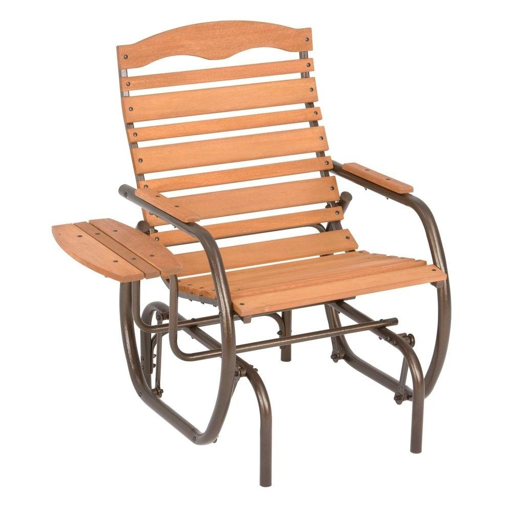 Jack Post Country Garden Natural Glider Chair With Tray Cg 21Z – The Pertaining To Patio Rocking Chairs And Gliders (#9 of 15)