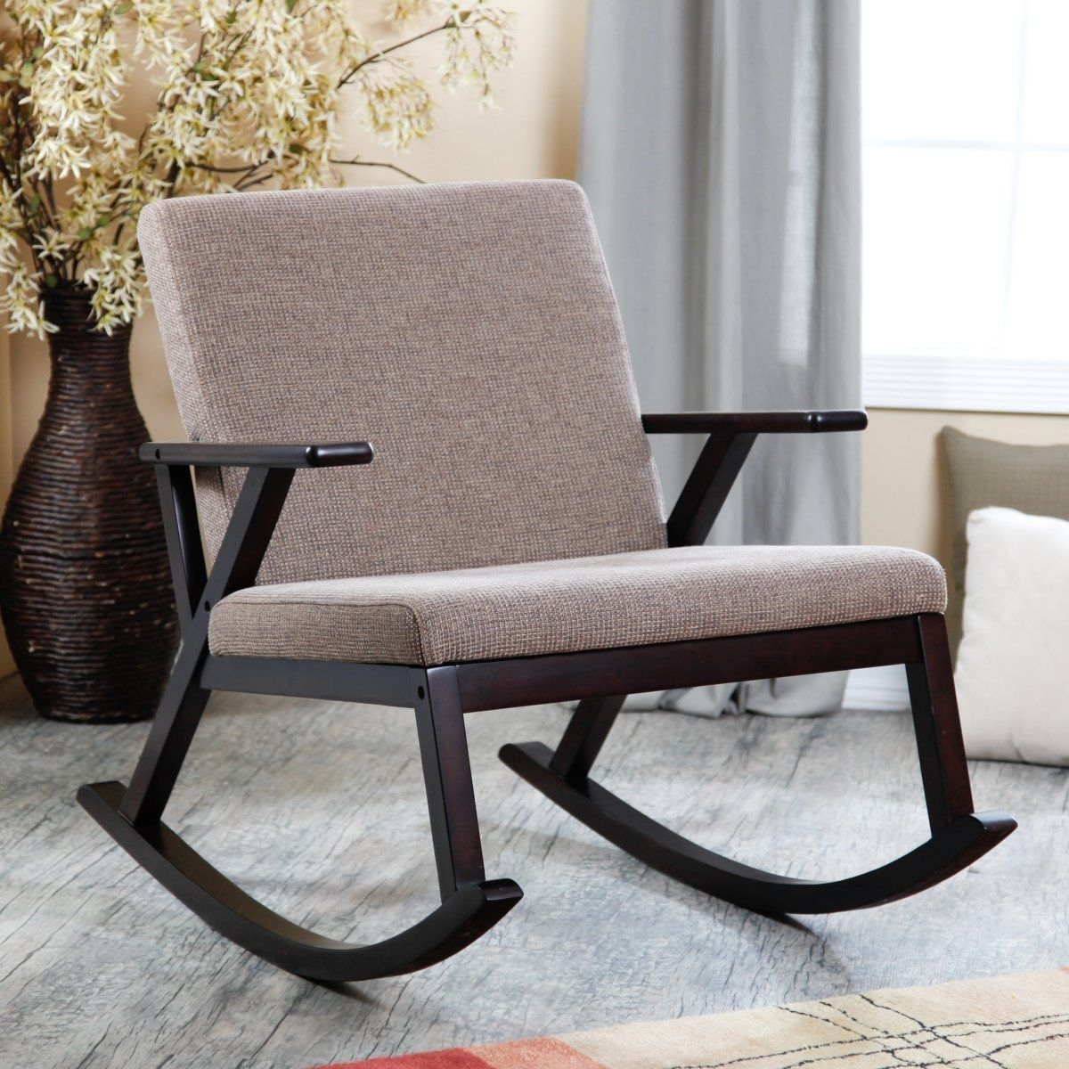 Jasper Rocking Chair – Upholstered – Brown | Le Bebe | Pinterest With Regard To Modern Patio Rocking Chairs (View 2 of 15)