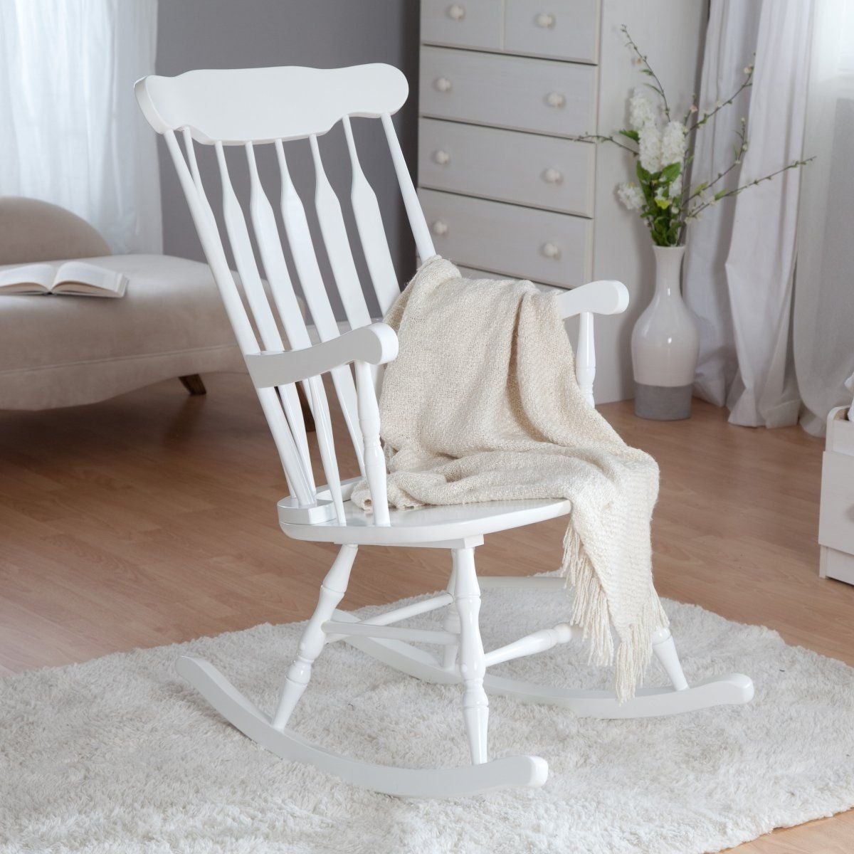 Kidkraft Nursery Rocker – White – Rocking Chairs At Hayneedle Within White Wicker Rocking Chair For Nursery (View 7 of 15)