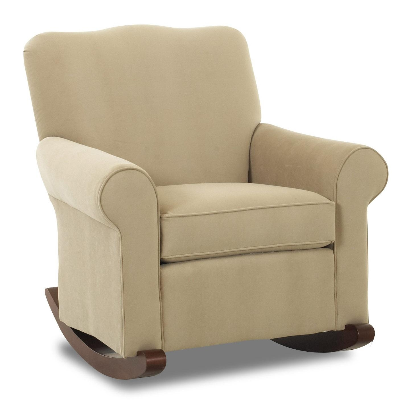 Klaussner Chairs And Accents Old Town Upholstered Rocker | Value Throughout Upholstered Rocking Chairs (View 2 of 15)