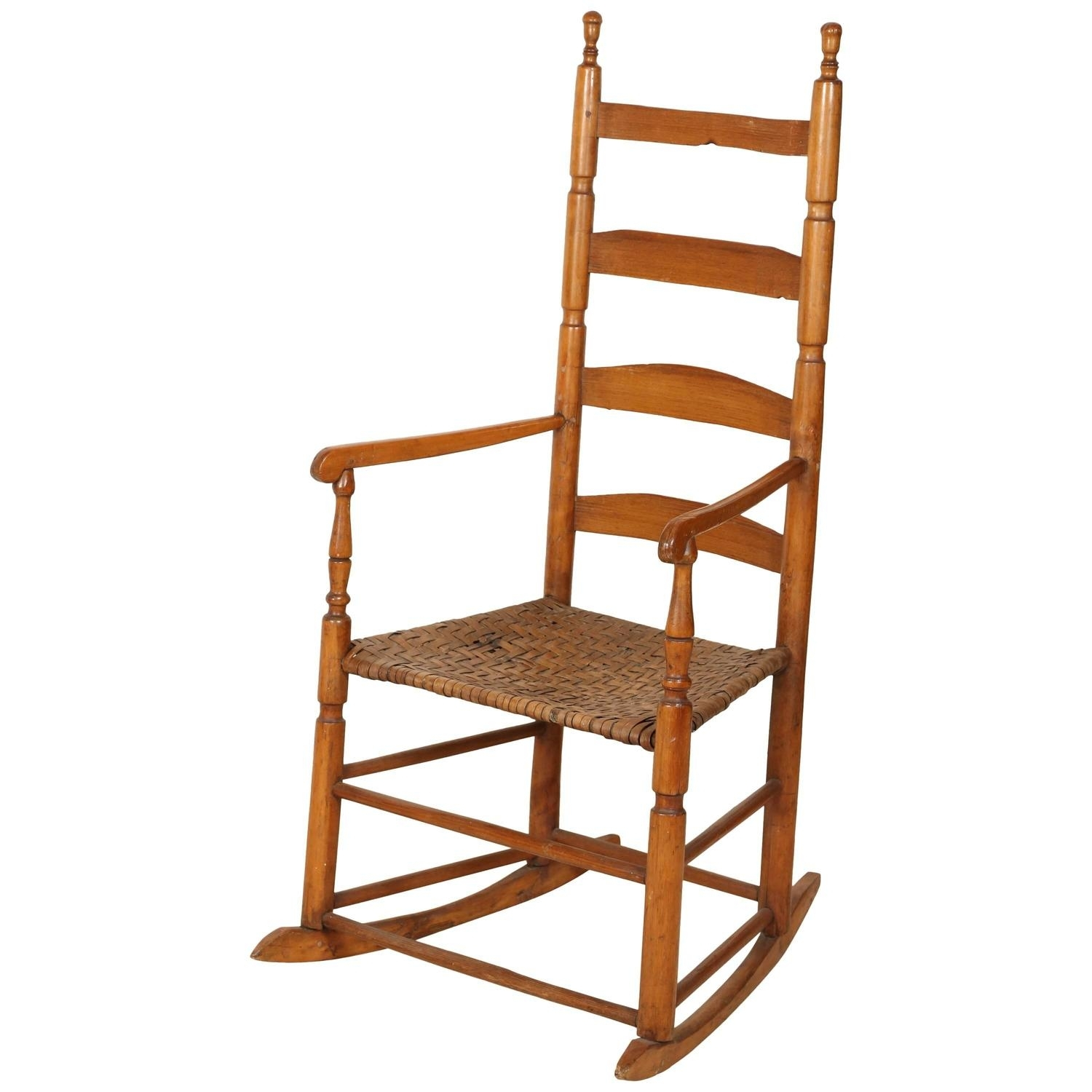 Ladder High Back Rocking Chair For Sale At 1Stdibs Regarding High Back Rocking Chairs (#5 of 15)