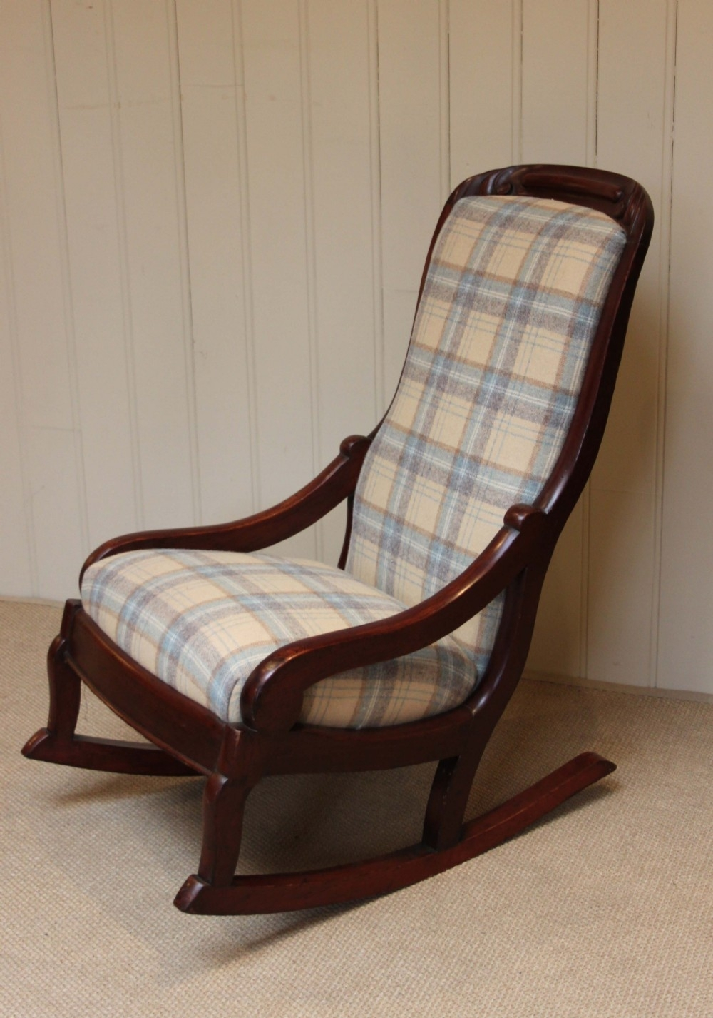 Late Victorian Upholstered Rocking Chair | 244300 | Sellingantiques Throughout Victorian Rocking Chairs (View 6 of 15)