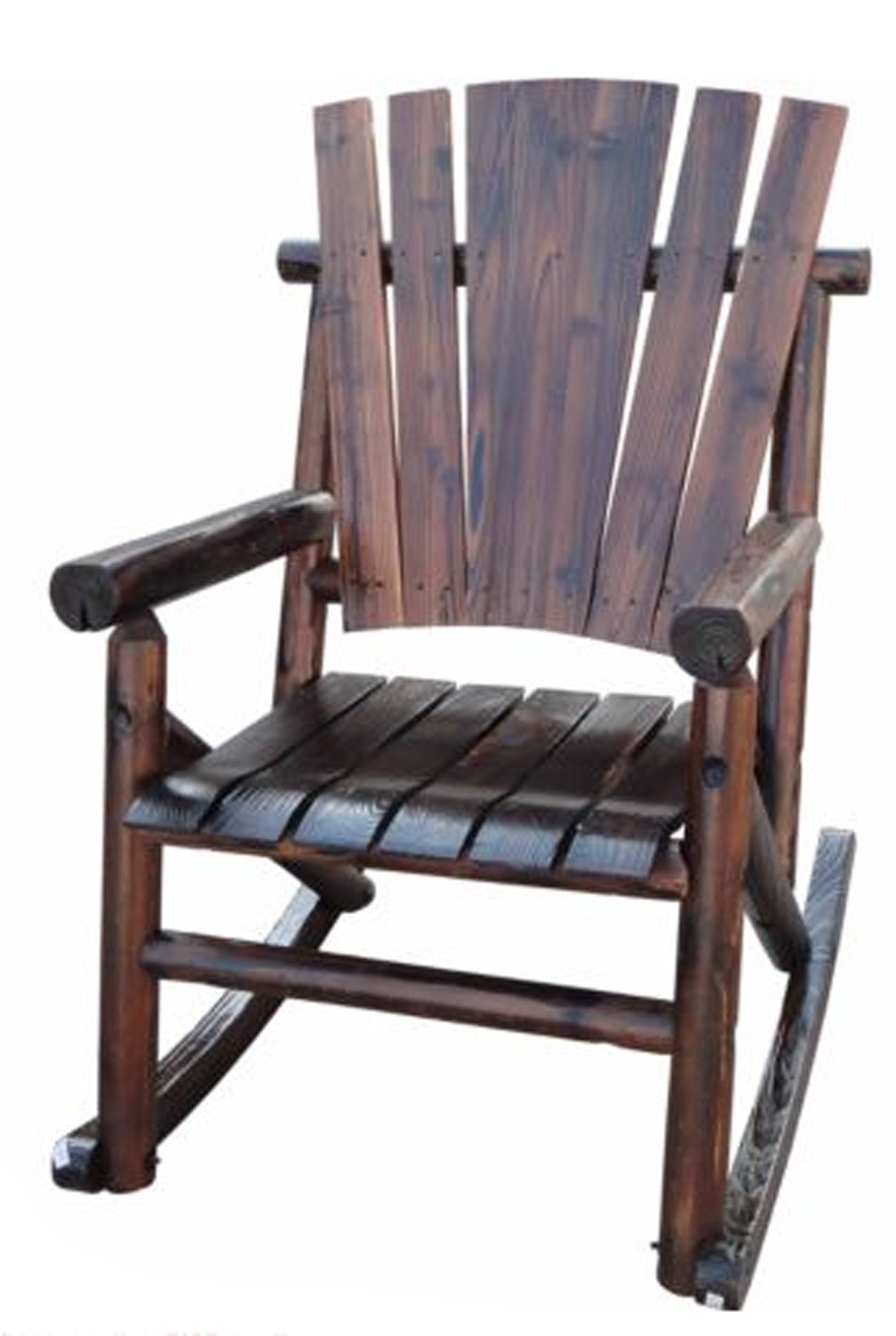 Leighcountry Char Log Single Rocking Chair I & Reviews | Wayfair With Regard To Char Log Patio Rocking Chairs With Star (#12 of 15)