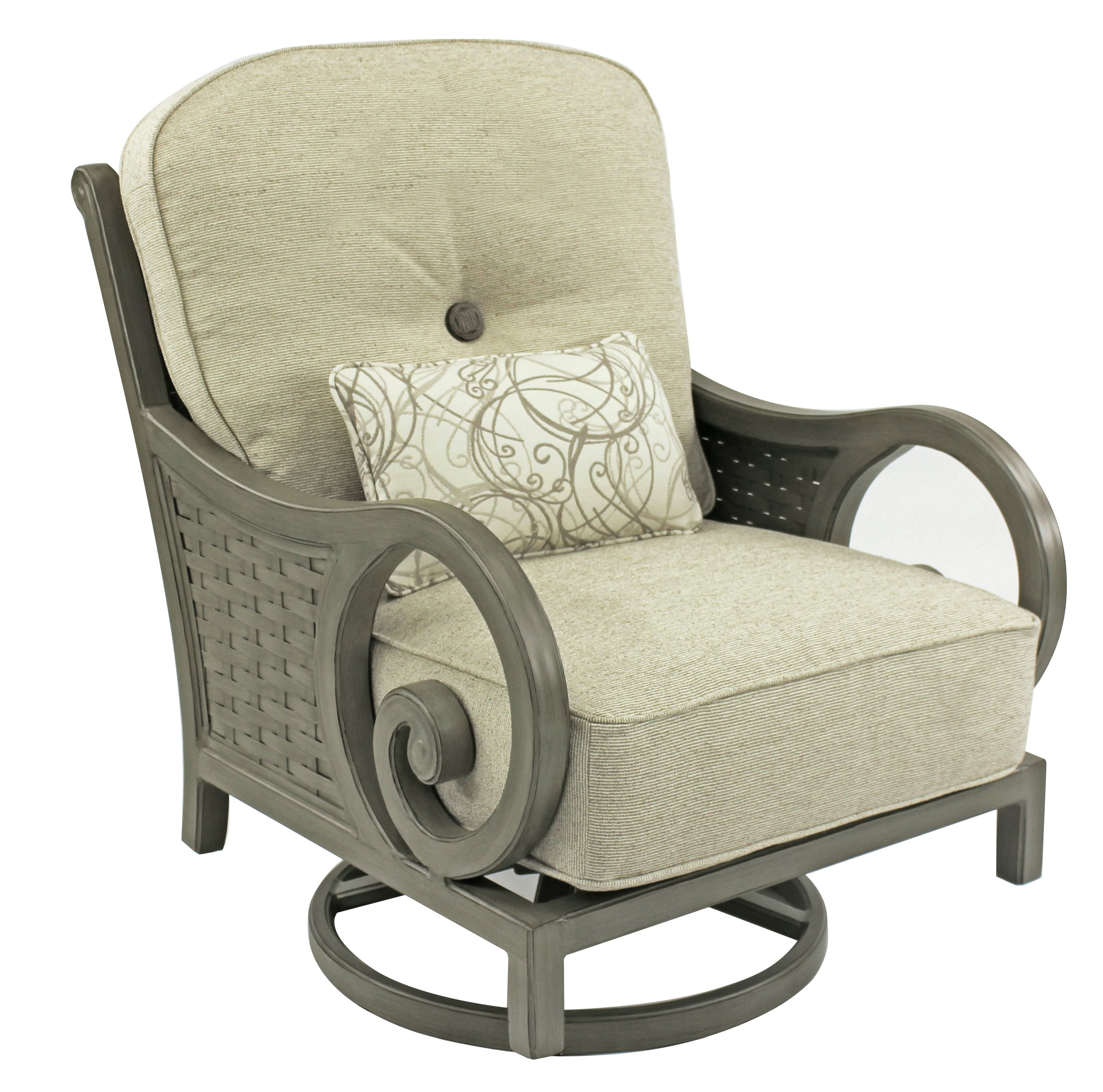 Leona Riviera High Back Swivel Rocking Chair With Cushion & Reviews Within High Back Rocking Chairs (#6 of 15)