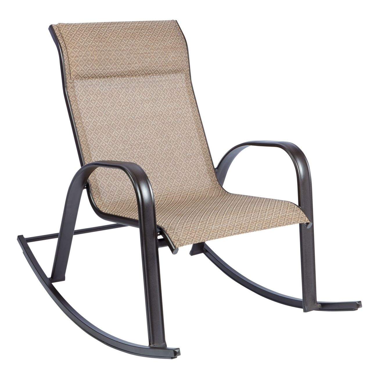 Living Accents Newport Rocking Chair Brown Outdoor Dining Chairs For Used Patio Rocking Chairs (View 13 of 15)