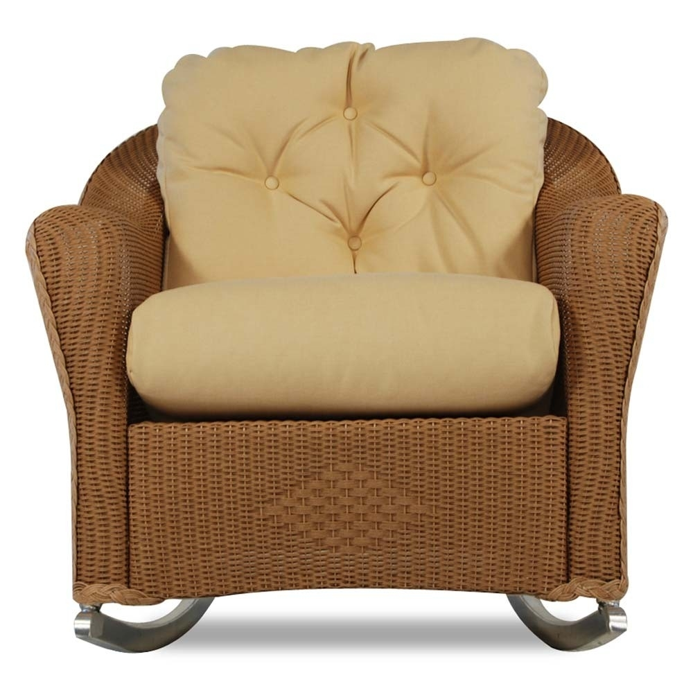 Inspiration about Lloyd Flanders Reflections Wicker Lounge Rocker – Special For Outdoor Wicker Rocking Chairs With Cushions (#6 of 15)