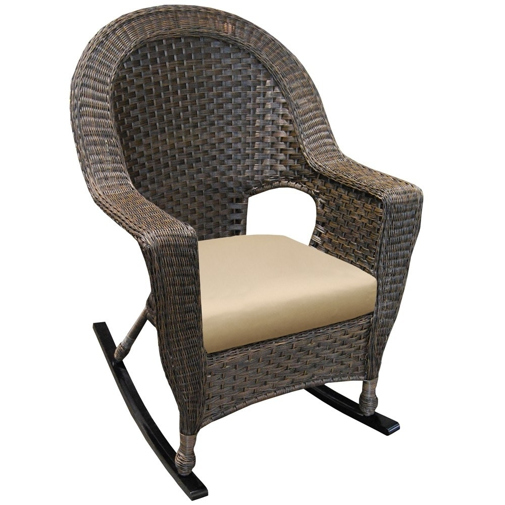 Popular Photo of Wicker Rocking Chair With Magazine Holder