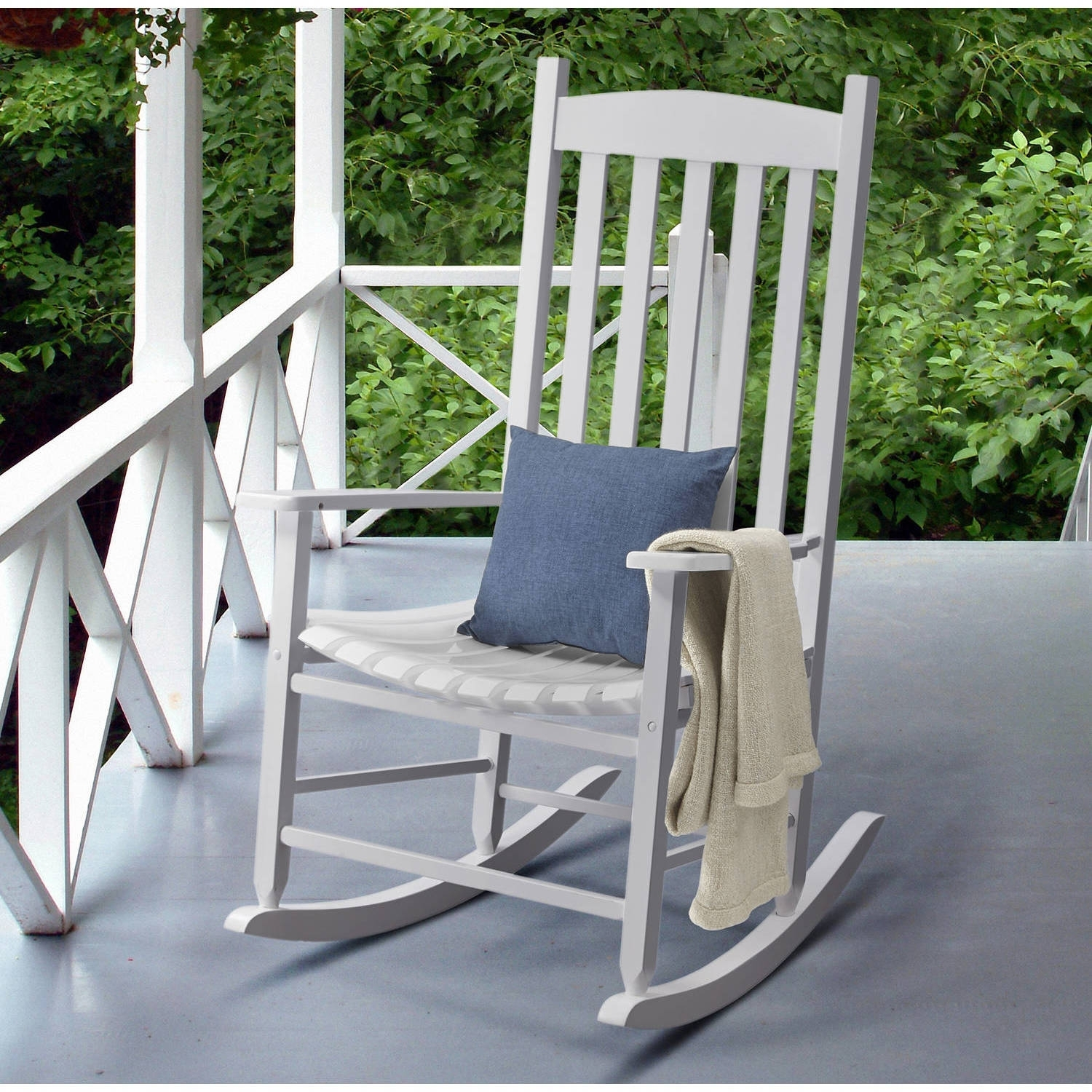 Mainstays Jefferson Outdoor Wrought Iron Porch Rocking Chair Regarding Patio Rocking Chairs (View 10 of 15)