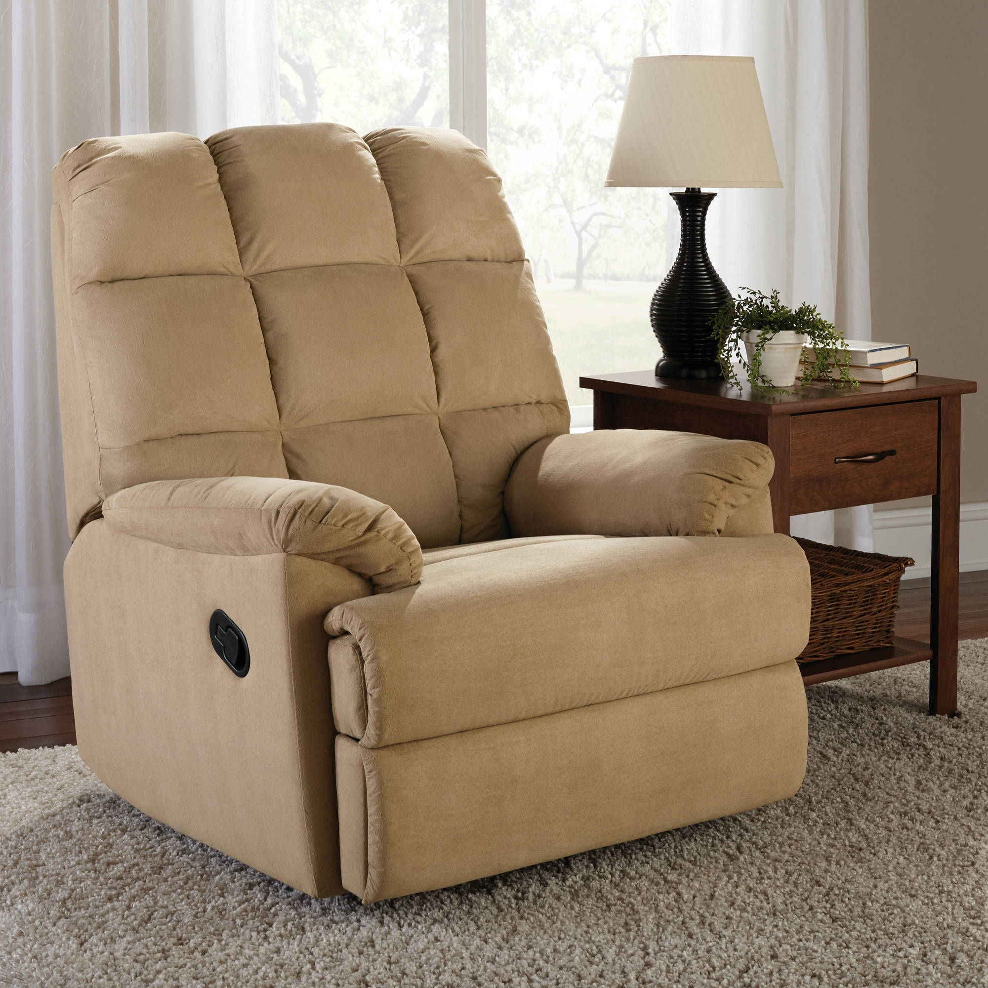 Inspiration about Mainstays Microsuede Rocker Recliner – Walmart Within Walmart Rocking Chairs (#13 of 15)