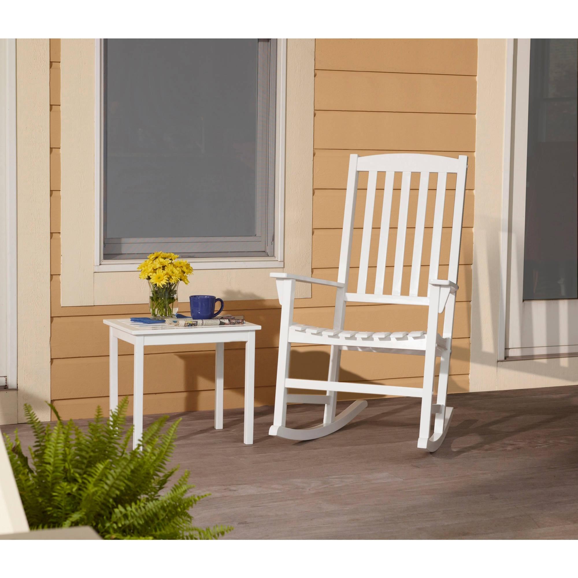 Mainstays Outdoor Rocking Chair, White – Walmart Inside Walmart Rocking Chairs (View 4 of 15)
