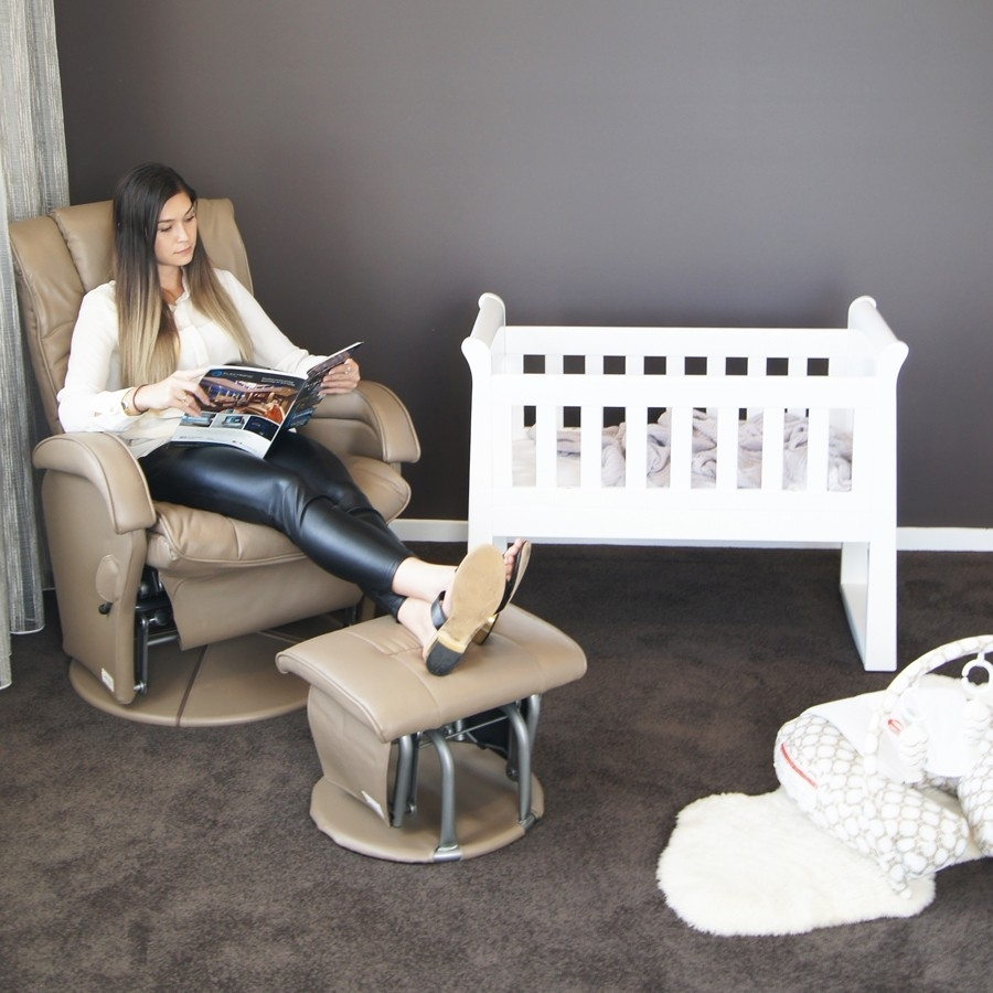 Inspiration about Manhattan Feeding Glider Chair & Ottoman – Out Of The Cot In Rocking Chairs Adelaide (#4 of 15)