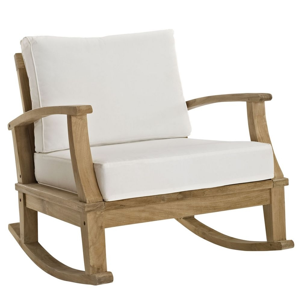 Marina Patio Teak Rocker Chair Manhattan Home Design Outdoor Rocking Inside Manhattan Patio Grey Rocking Chairs (#8 of 15)