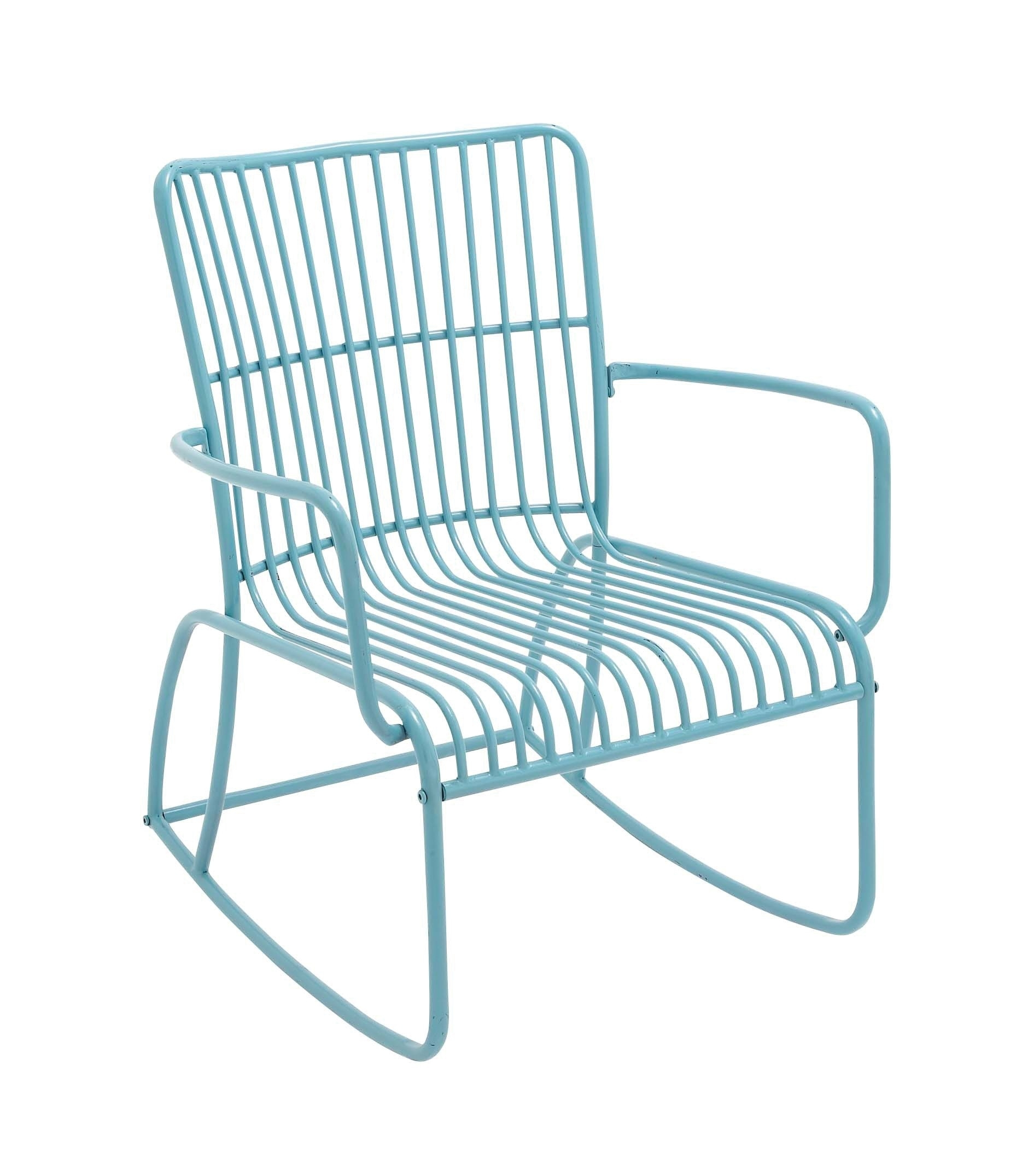 Metal Outdoor Rocking Chair With Regard To Vintage Metal Rocking Patio Chairs (View 12 of 15)