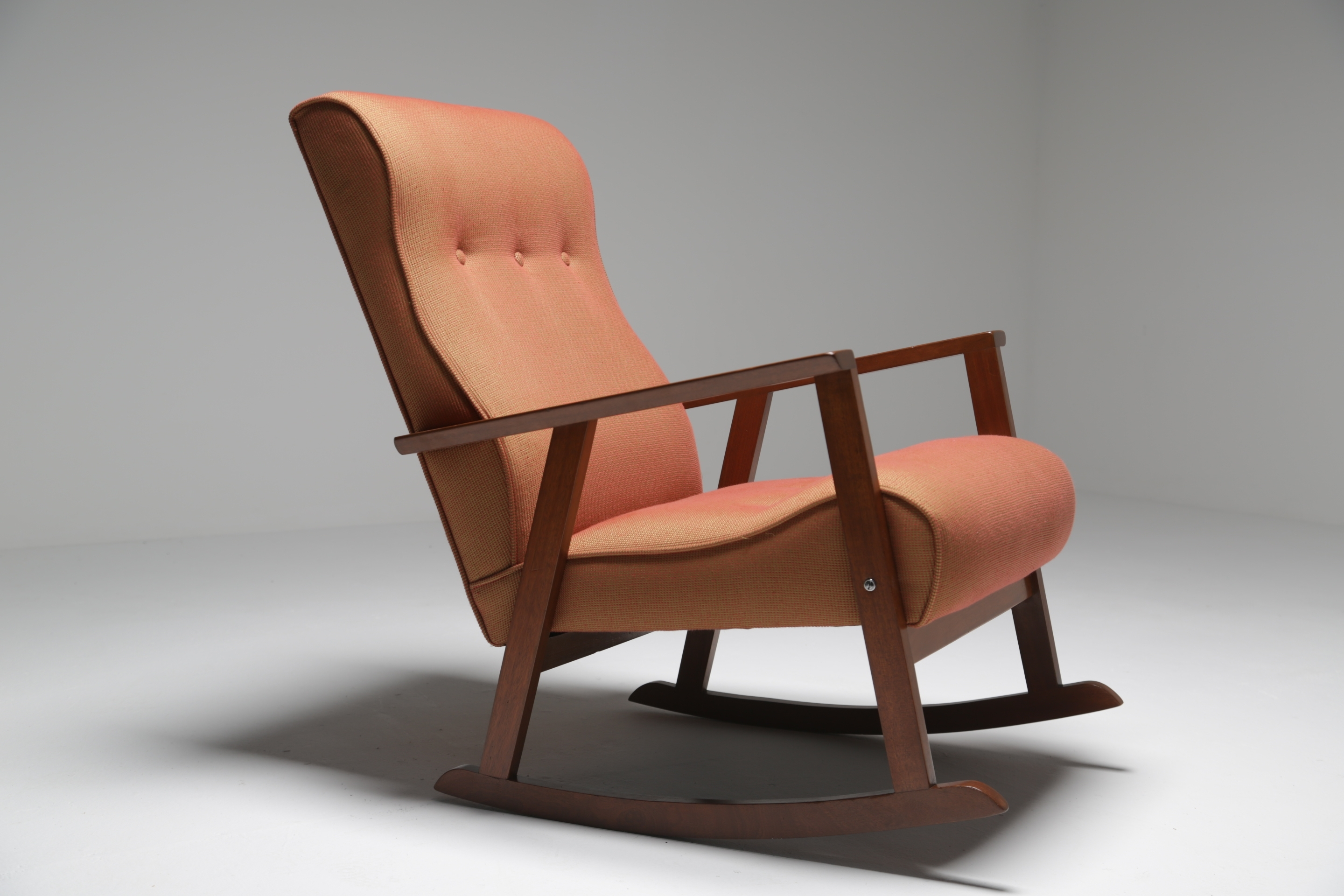 Mid Century Teak Rocking Chair Madecrannac Factory, Ireland C (#7 of 15)
