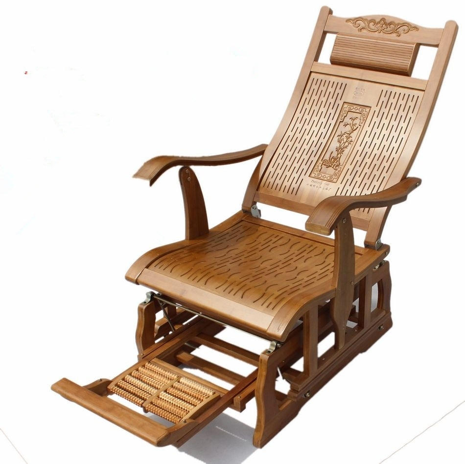 Inspiration about Modern Bamboo Rocking Chair Adult Glider Rocker Natural Bamboo Regarding Rocking Chairs For Adults (#2 of 15)