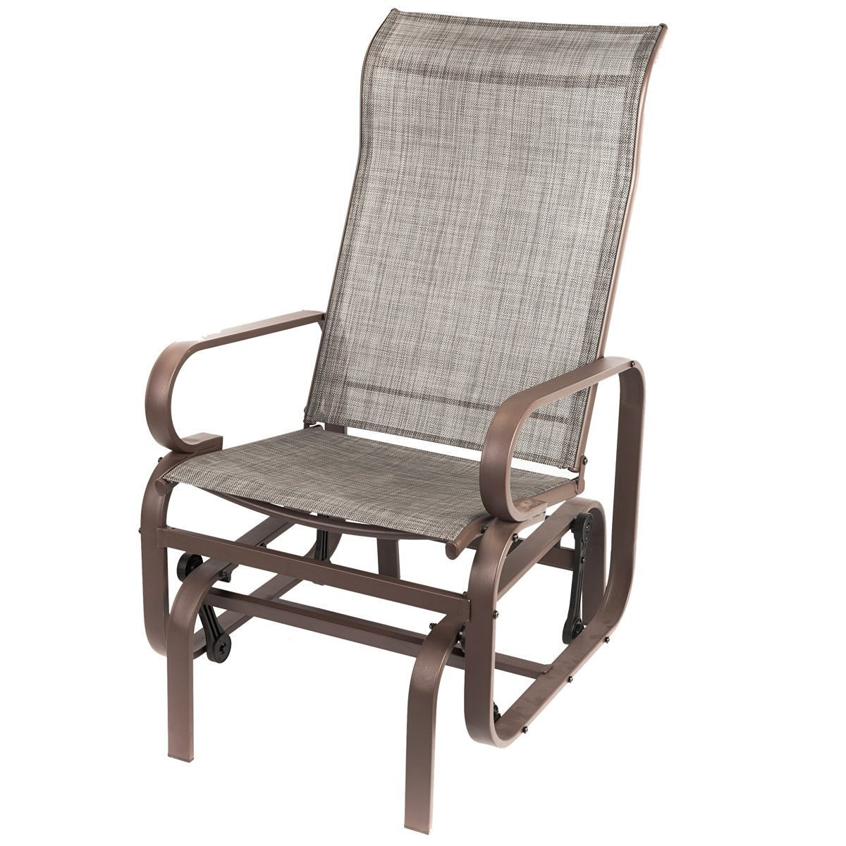 Naturefun Outdoor Patio Rocker Chair, Balcony Glider Rocking Lounge In Patio Rocking Chairs And Gliders (#11 of 15)