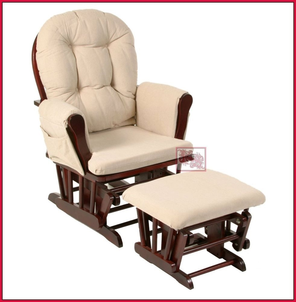 Nursing Rocker W Foot Rest Stool Rocking Chair Breastfeeding Nursery Intended For Rocking Chairs With Footrest (#8 of 15)