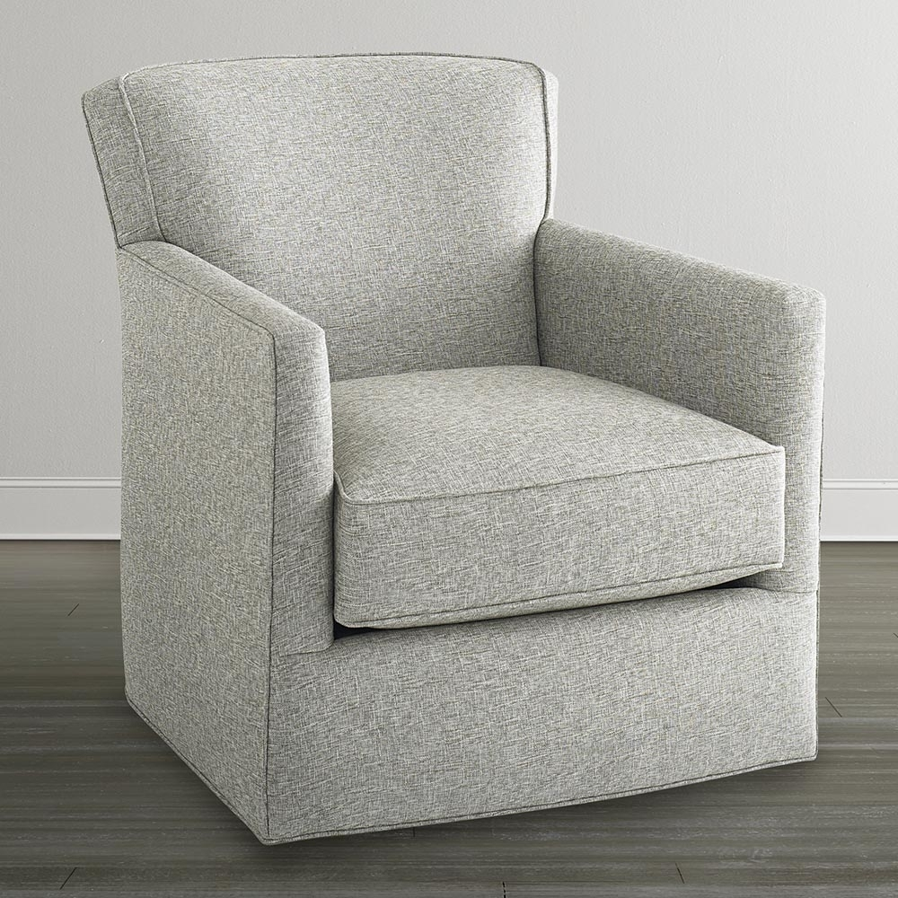 Off White Swivel Glider Chair Intended For Swivel Rocking Chairs (#13 of 15)