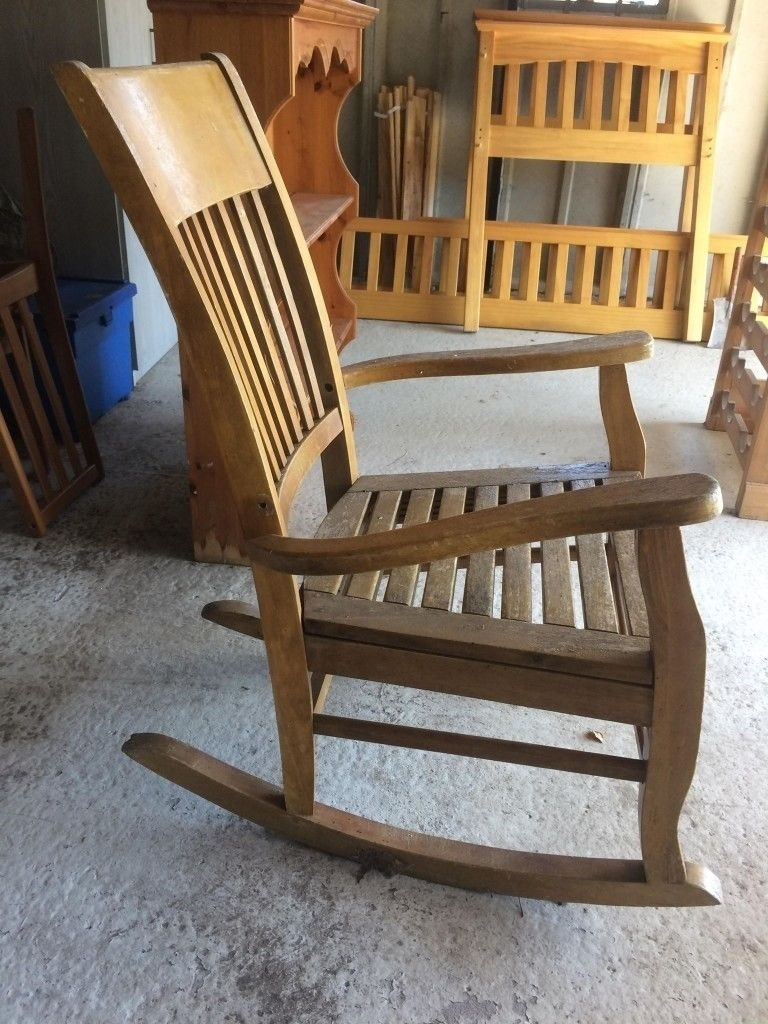 Old Fashioned Rocking Chair, £15 Ono, Approx Height 1060 And Width In Old Fashioned Rocking Chairs (#8 of 15)