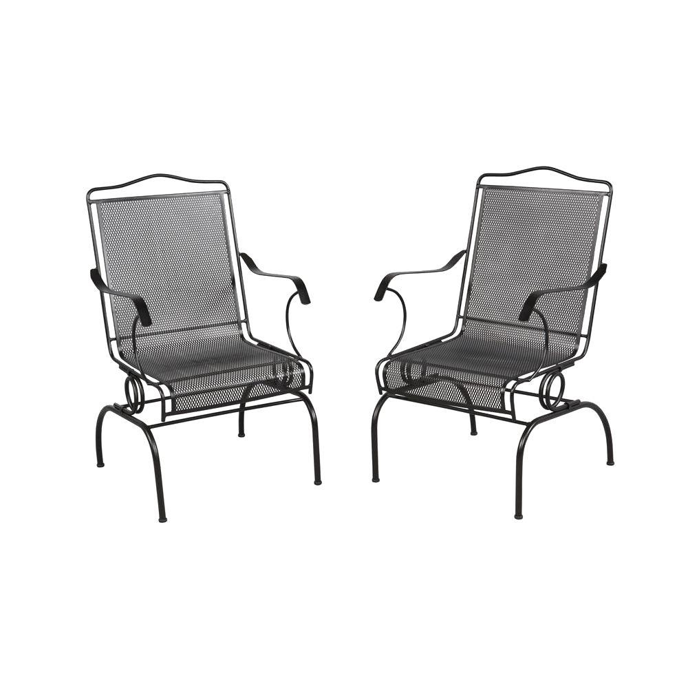 Outdoor Dining Chairs – Patio Chairs – The Home Depot Within Iron Rocking Patio Chairs (View 9 of 15)