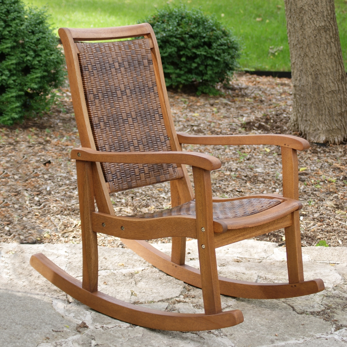 Outdoor Interiors 21095Rc Outdoor Rocking Chair | Lowe's Canada Pertaining To Outdoor Rocking Chairs (View 4 of 15)