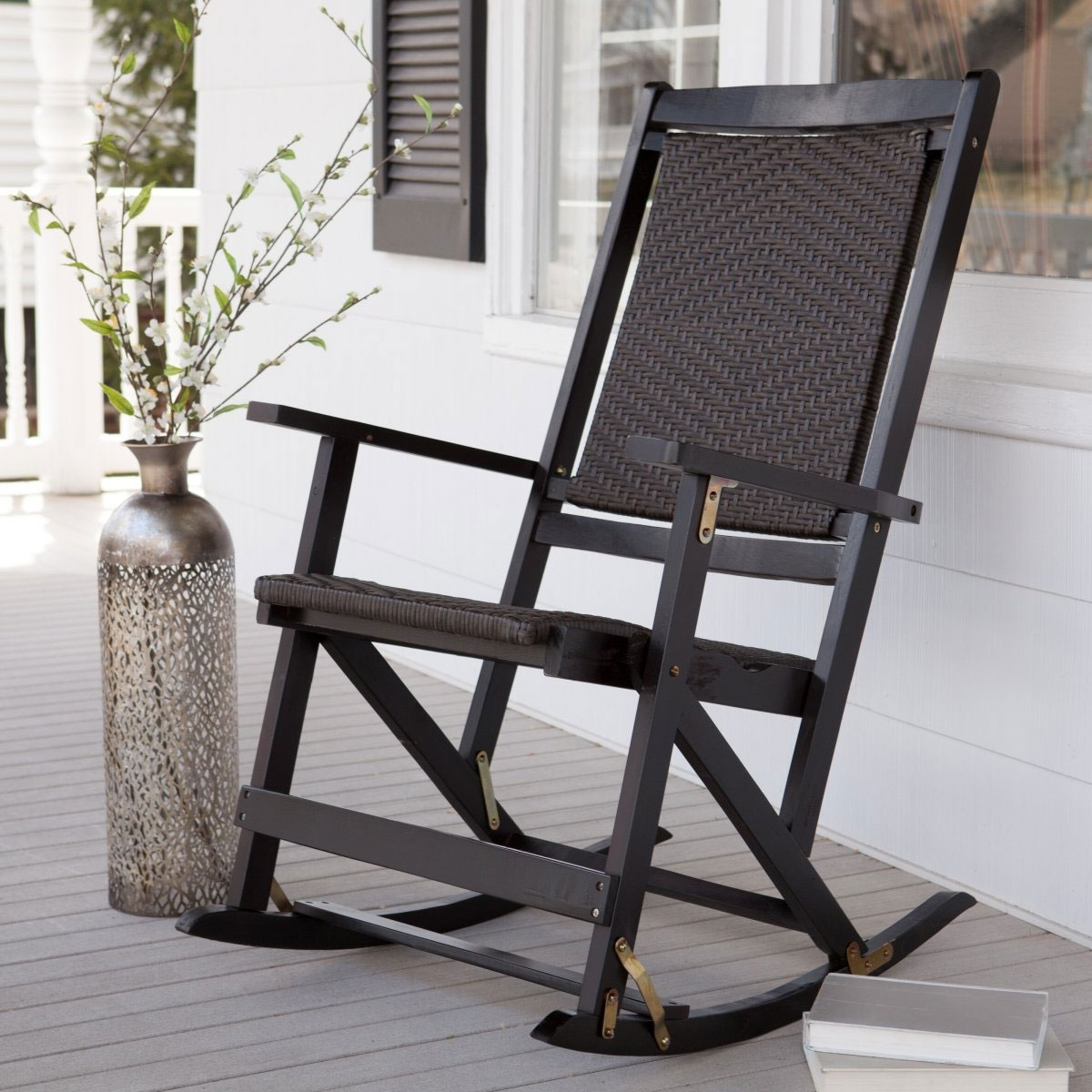 Outdoor Metal Rocking Chair Modern Chairs Quality Interior Lawn Within Vintage Metal Rocking Patio Chairs (View 6 of 15)