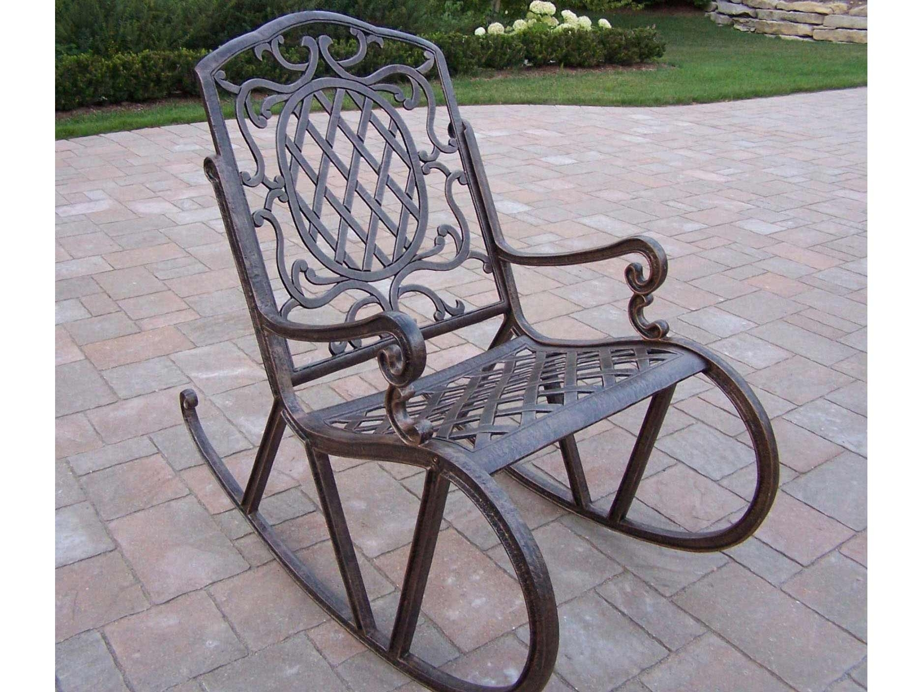 Outdoor Patio Rocking Chairs – Torino2017 In Outdoor Patio Metal Rocking Chairs (#12 of 15)