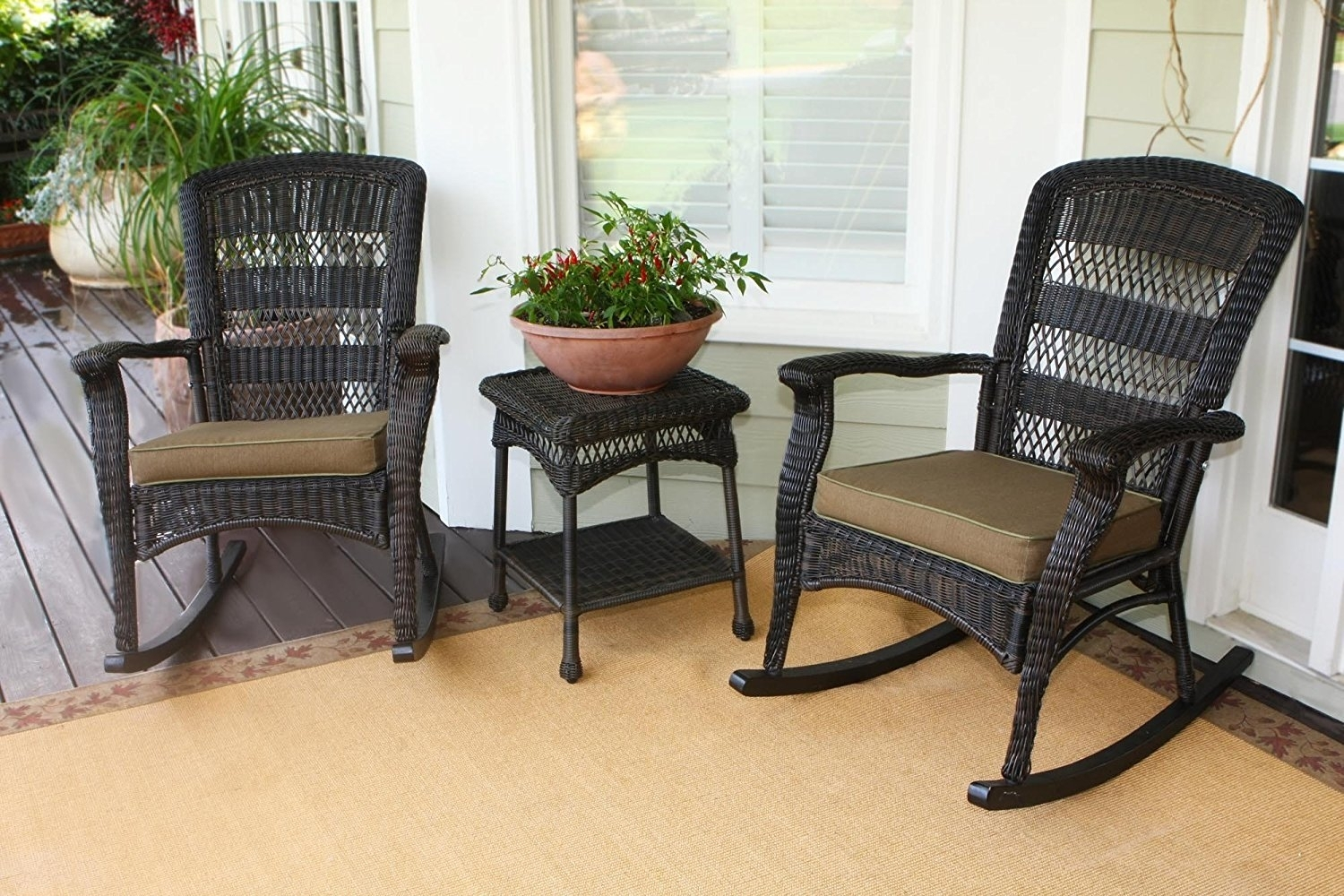 Outdoor Rocking Chair Cushions Home : Beautiful Outdoor Rocking In Patio Rocking Chairs With Cushions (View 7 of 15)