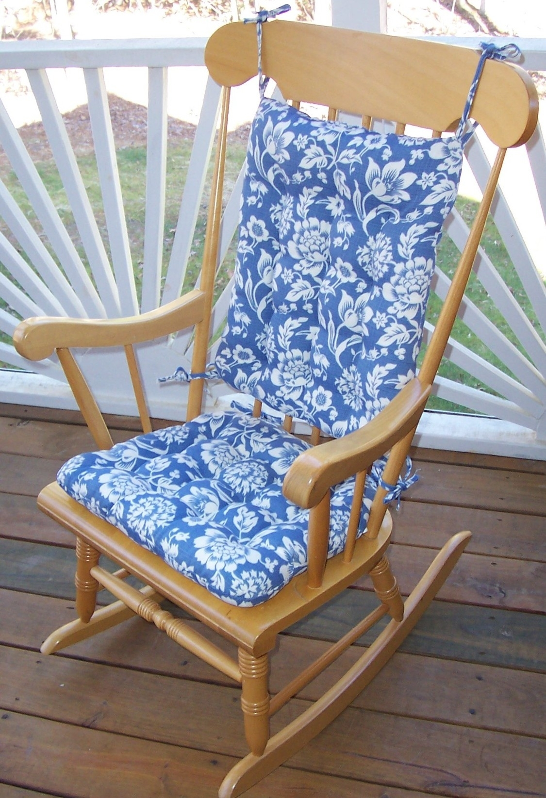 Outdoor Rocking Chair Cushions Pattern : Beautiful Outdoor Rocking For Rocking Chair Cushions For Outdoor (#8 of 15)