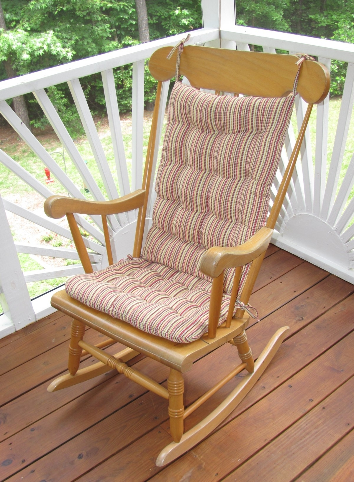 Outdoor Rocking Chair Cushions Strip : Beautiful Outdoor Rocking Intended For Rocking Chair Cushions For Outdoor (#9 of 15)
