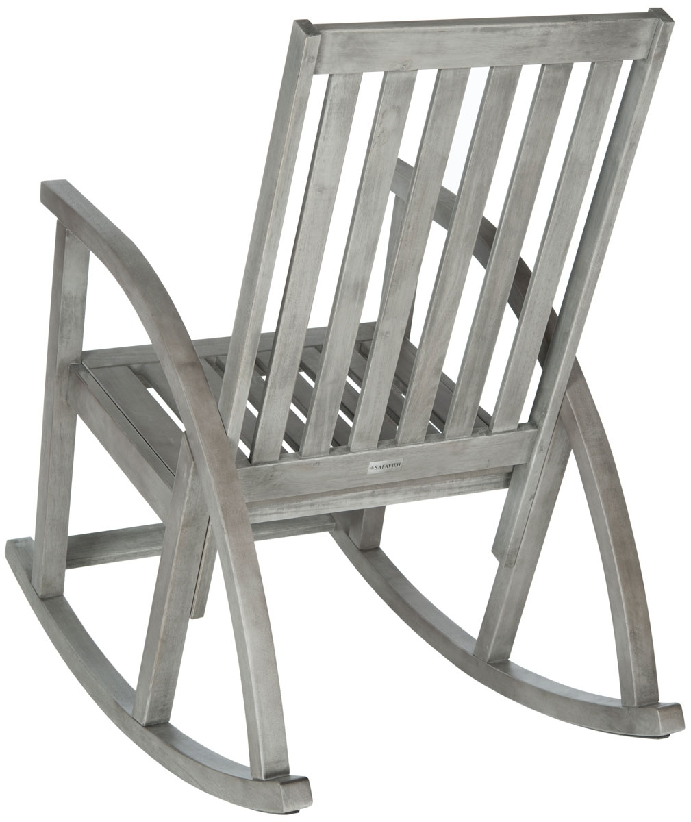 Outdoor Rocking Chairs Furniture Safavieh Back Gray Chair Zen Wooden In Zen Rocking Chairs (#10 of 15)