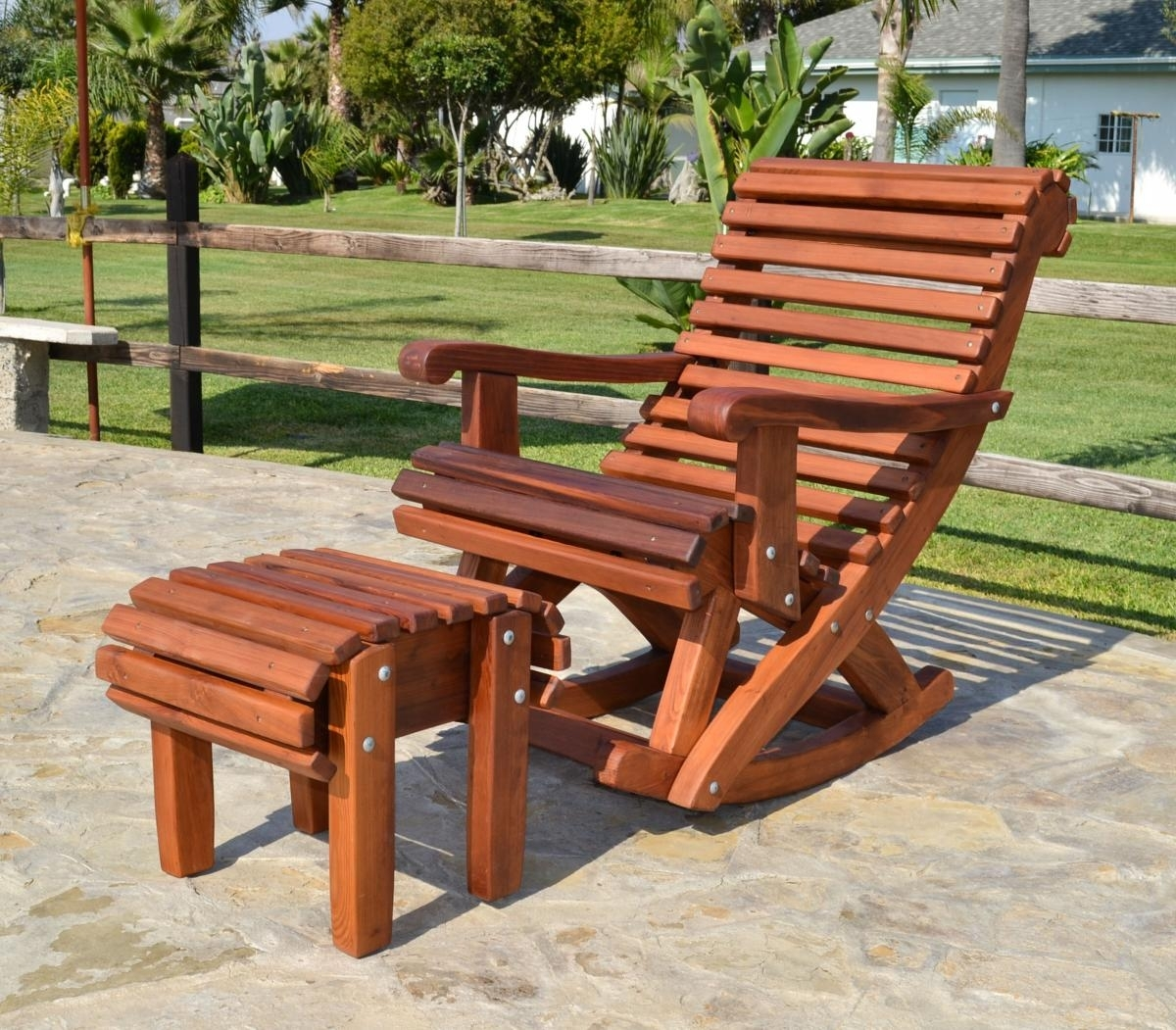 Outdoor Rocking Chairs Style — Nyctophilia Design : Ideas For Paint For Rocking Chair Outdoor Wooden (View 9 of 15)