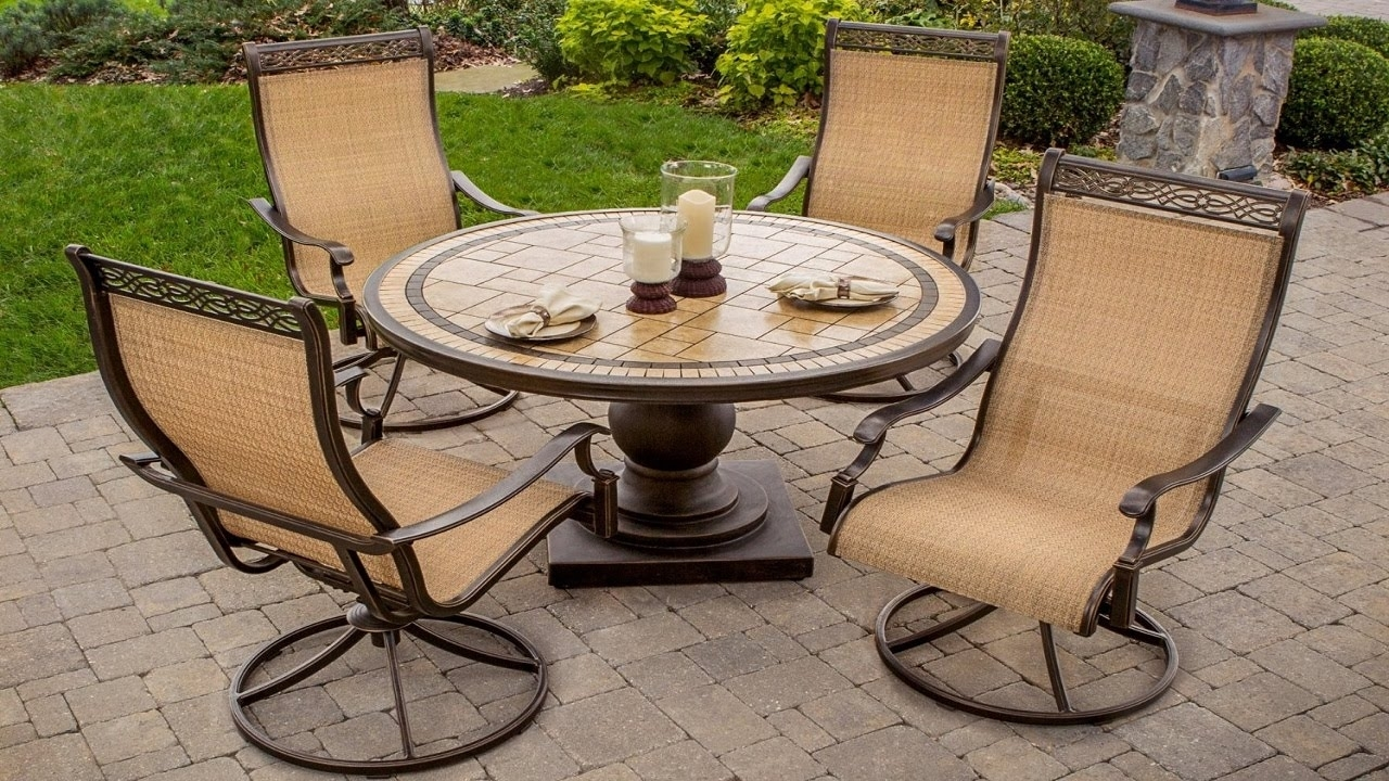 Outdoor Swivel Rockers Patio Furniture Piece High Back Sling For Patio Sling Rocking Chairs (View 11 of 15)