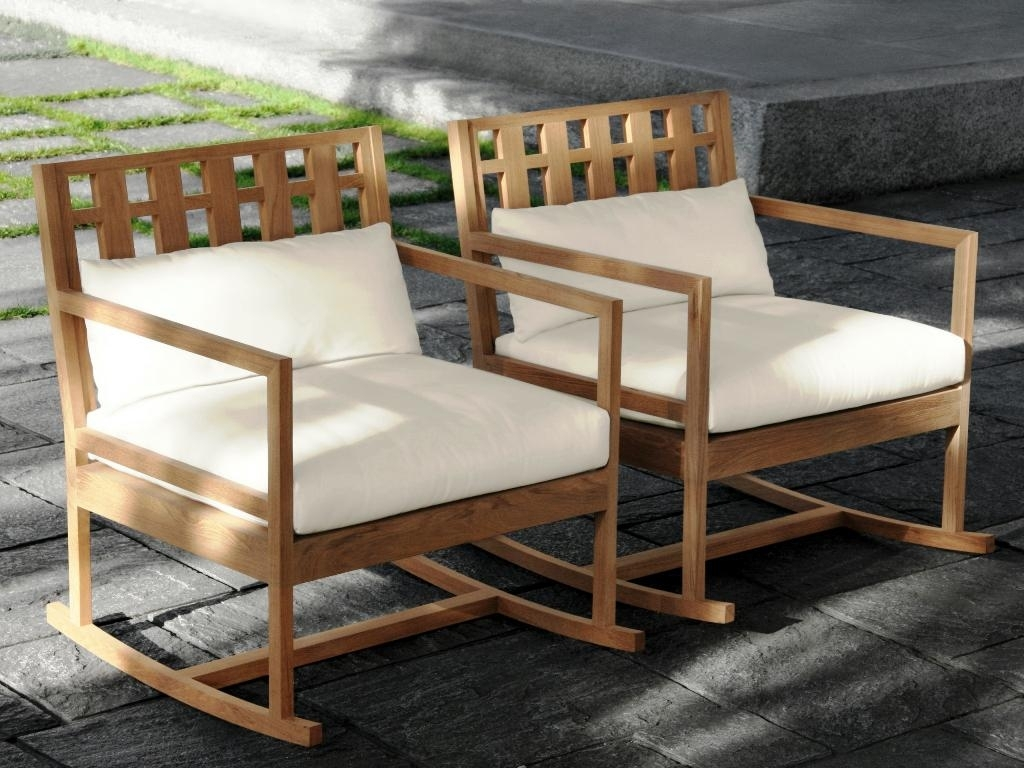 Outdoor Teak Rocking Chair — Gonzo Alonso Design : Reusing Teak With Regard To Teak Patio Rocking Chairs (View 4 of 15)