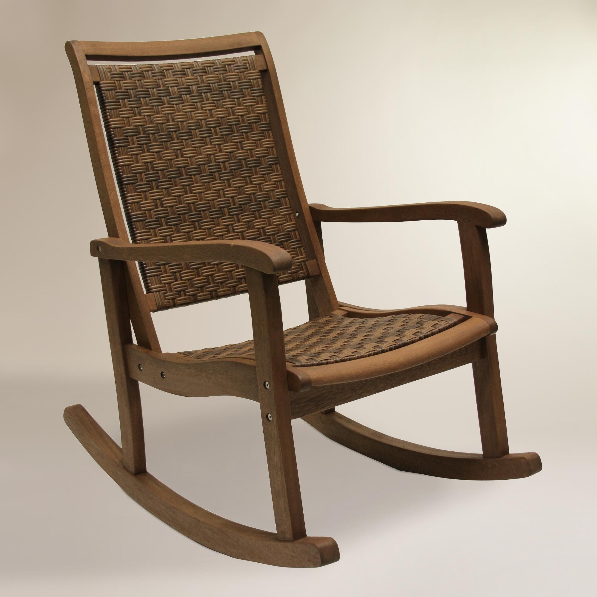 Outdoor Wicker Rocking Chairs Ideas — Wilson Home Ideas : How Oil For Brown Patio Rocking Chairs (View 10 of 15)